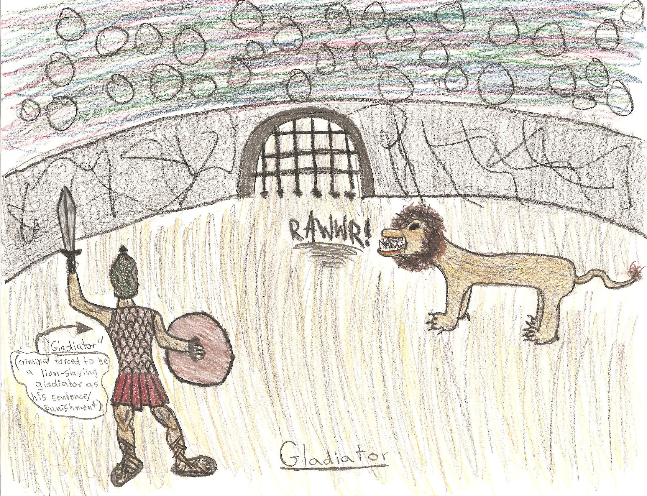 Roman Gladiator Drawing Gladiator Gladiator